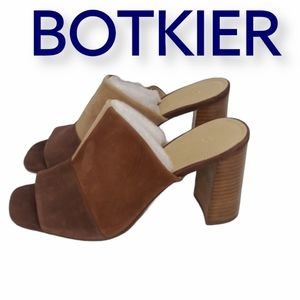 NEW BOTKIER Remy Sz 9 Cocoa Multi Suede Mules